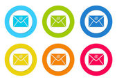 Rounded icons with email symbol — Stock Photo