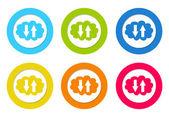 Färgglada rundade ikoner med en moln symbol — Stockfoto