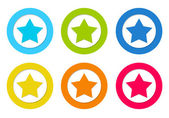 Set of rounded icons with star symbol — Stock Photo