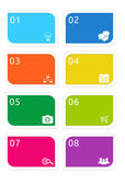 Colorful buttons for Web page menu — Stock Photo
