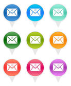 Colorful rounded icons with email symbol — Stock Photo