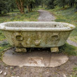 Stock Photo: Old concrete bath in garden