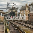 Stock Photo: Old railway station at Wandsford Cambridgshire England