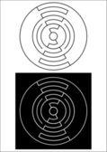 Cirkel ontwerp 4. cdr — Stockfoto