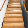 Stock Photo: Wooden oak straight stairs