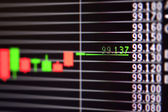 Foreign exchange market chart — Stock Photo