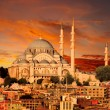 Hagia Sophia in Istanbul at dusk — Stock Photo #13123728