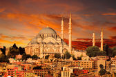 Hagia Sophia in Istanbul at dusk — Stock Photo