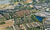 Aerial bild der zersiedlung — Stockfoto