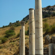 Columns in the Roman city of Ephesus — Stock Photo