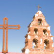 Belltower of San Migeul mission in California — Stock Photo