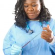 Young african american nurse — Stock Photo