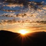 Panorama de um nascer do sol acima do Parque da cidade, utah — Foto Stock