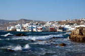 Little Venice on the Greek island of Mykonos — Stock Photo