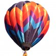 Hot air balloon isolated over white — Stock Photo