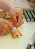 Chef preparing Sushi — Stock Photo