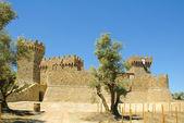 Castel amarosa, cópia de um castelo da toscana — Foto Stock