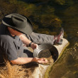 Gold panning — Stock Photo #40111187