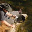 Gold panning — Stock Photo #40111195