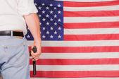 Man holding a handgun — Stock Photo