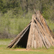 Miwok indian village — Stock Photo
