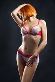 Young sexy em lingerie — Foto Stock