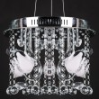 Chandelier isolated on black background — Stock Photo