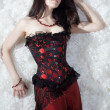 Photo: A beautiful sexy girl in a corset
