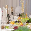 Luxury holiday table - Foto Stock