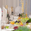 Luxury holiday table - Stockfoto