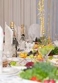 Luxury holiday table — Stock Photo