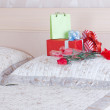 Stock Photo: Beautiful gift boxes