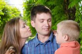 Loving parents with son — Stock Photo