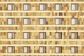 фасад simetric windows — Стоковое фото