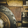 Stock Photo: Old rusty farm tractor