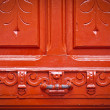 Vintage red door with chipped paint - Foto de Stock