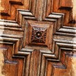 Stock Photo: Detail grunge wooden door