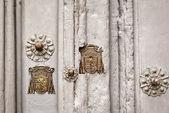 Lock trims religious shields — Stock Photo