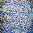 Blue textile background - Stock Photo