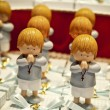 First communion dolls — Stock Photo
