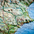 Road  map of Costa Blanca Alicante, Spain — Stock Photo