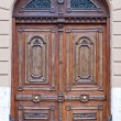 Old  wooden Front Door of a Luxurious Town House  — Stock Photo
