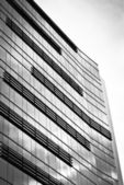 Business building, black and white — Stock Photo