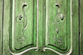Rustic door carving detail — Stok fotoğraf