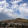 Albaicin hill from the palaces of the Alhambra, Granada — Stock Photo