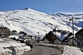 Snowy village, Sierra Nevada — Foto de Stock