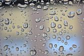 Raindrops on the window — Stock Photo