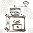 Old coffee mill — Stock Vector #12103513