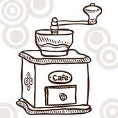 Eski kahve değirmeni — Stok Vektör