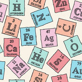 Chemical elements - periodic table - seamless pattern — Stock Vector
